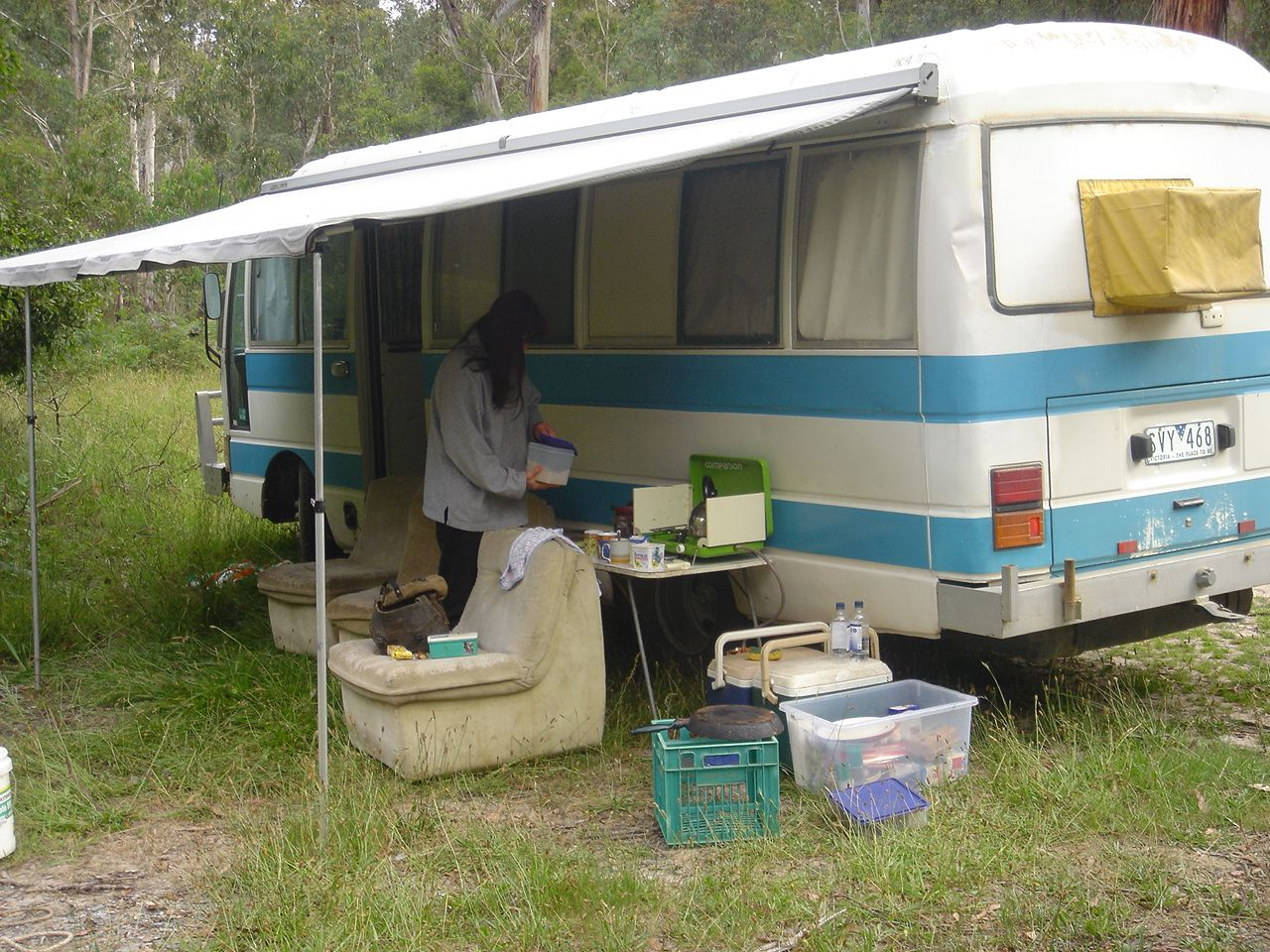 A couple of pics taken during an early pre-project trip. By this time I had purchased and fitted a second hand Aussie Traveller awning. & Cuppa u0026 Mrs Tu0027s Adventures